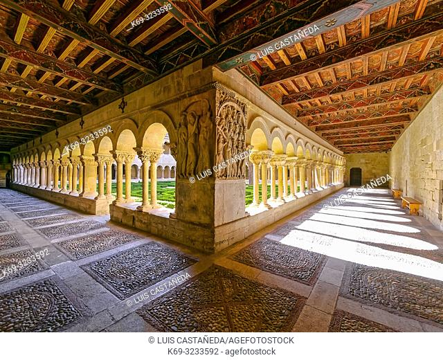 Romanesque Cloister of Santo Domingo de Silos. Spain