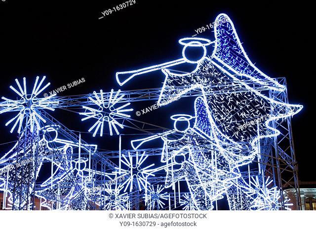 Christmas lights, Town Hall Square, Vilnius, Lithuania