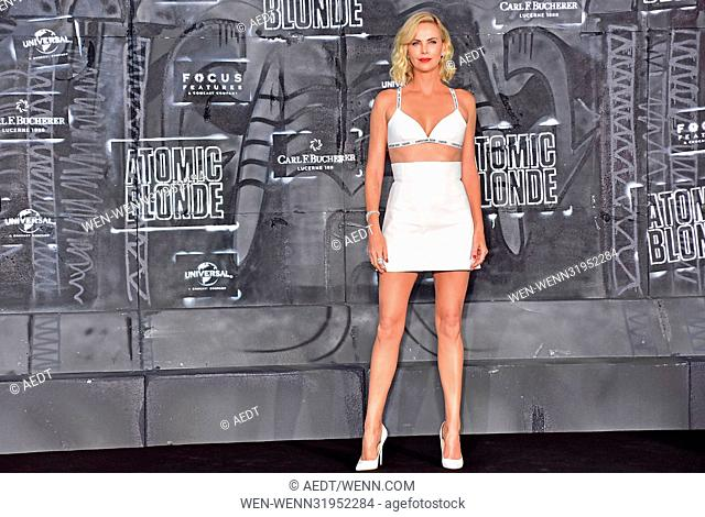 World premiere Atomic Blonde at Theater am Potsdamer Platz. Featuring: Charlize Theron Where: Berlin, Germany When: 17 Jul 2017 Credit: AEDT/WENN.com