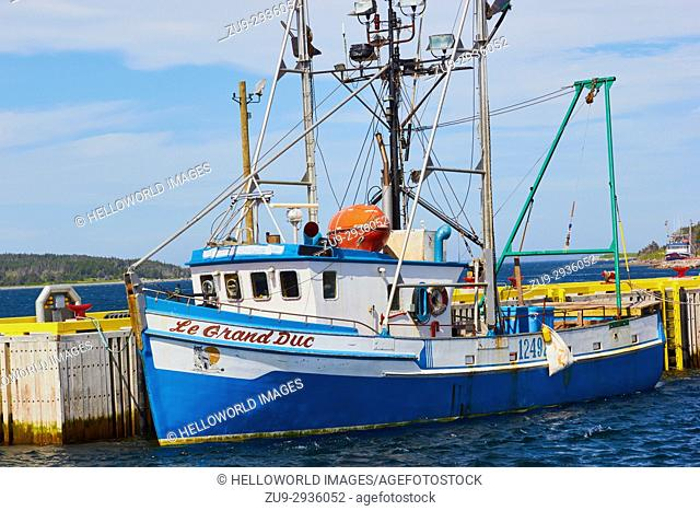 Fishing trawler, Port au Choix, Newfoundland, Canada. . Known as the fishing capital of western Newfoundland it is also a designated National Historic Site of...