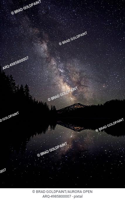 Milky Way Reflection and Mount Bachelor