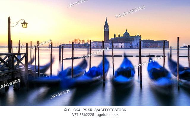 San Giorgio abbey at sunrise. Europe, Italy, Veneto, Venice