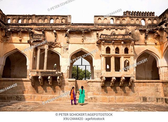 Queens Bath in Hampi, Karnataka, India, Asia