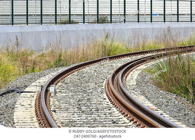 Train tracks.  Barcelona, Spain