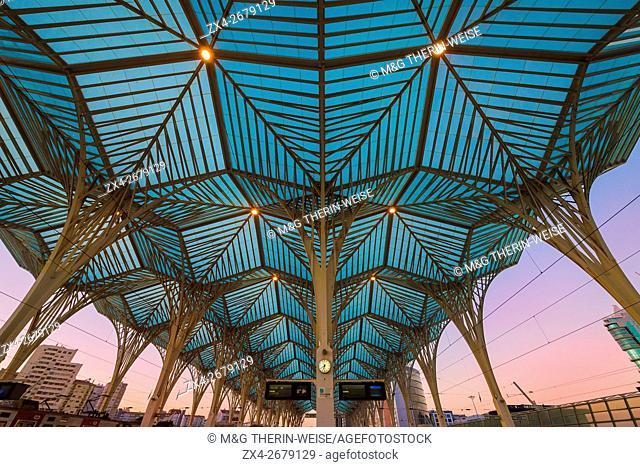 Oriente train station at sunset, Parque das Nações, Lisbon, Portugal