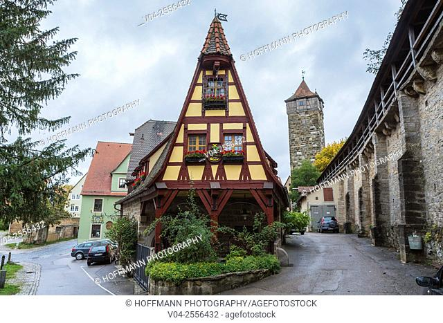 Charming Gerlachschmiede (Old Forge) in Rothenburg ob der Tauber, Bavaria, Germany, Europe