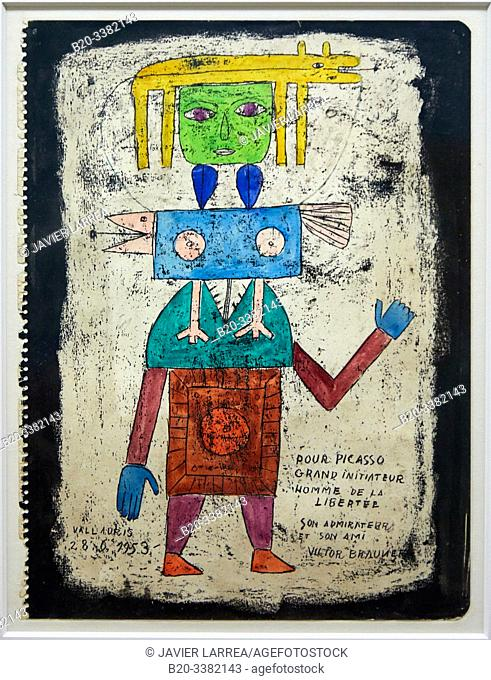 """Pour Picasso grand initiateur"", 1953, Victor Brauner, Picasso Museum, Paris, France, Europe"
