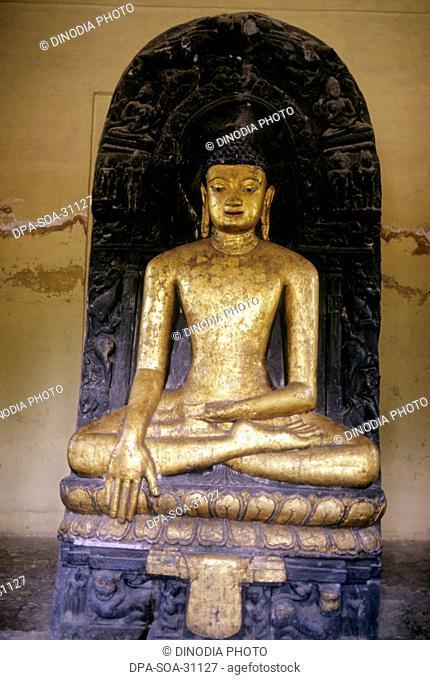 Golden statue of Buddha ; kushinagar ; india