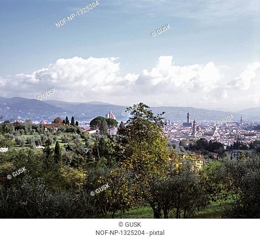 Panoramic view of a cityscape, Florence, Italy