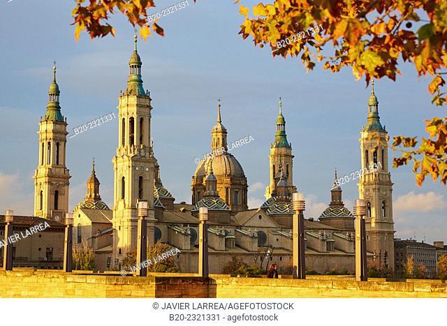 Basilica of Nuestra Señora del Pilar, Zaragoza. Aragón, Spain