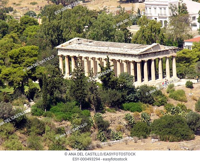 Ancient building in the Acropolis, Athens, Greece