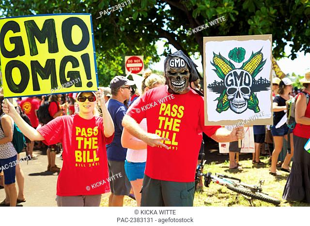 Anti-GMO Rally; Kauai, Hawaii, United States of America