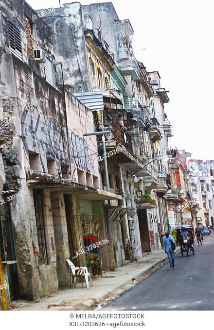 Street view in La Havana. Cuba