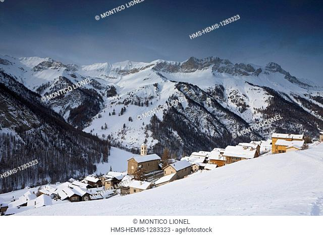 France, Hautes Alpes, Parc Naturel Regional du Queyras (Natural Regional Park of Queyras), Saint Veran, labelled Les Plus Beaux Villages de France (The Most...