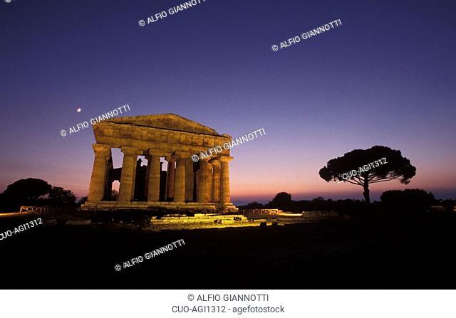 Nettuno temple, Paestum archaeological area, Campania, Italy