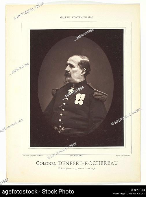 Colonel Denfert-Rochereau - c. 1876/78 - Carjat et Cie (Studio) French, 19th century - Artist: Carjat et Cie., Origin: France, Date: 1871–1878