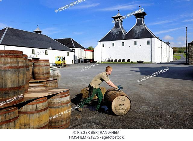 United Kingdom, Scotland, Inner Hebrides, Islay Island, Port Ellen, Ardbeg Scotch whisky distillery