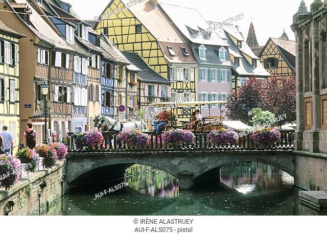 France - Alsace - Route des vins - Colmar - La petite Venise - Quai de la Poissonnerie