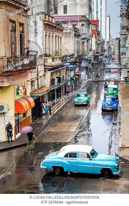 Street scene, in Virtudes street, Centro Habana District, La Habana, Cuba