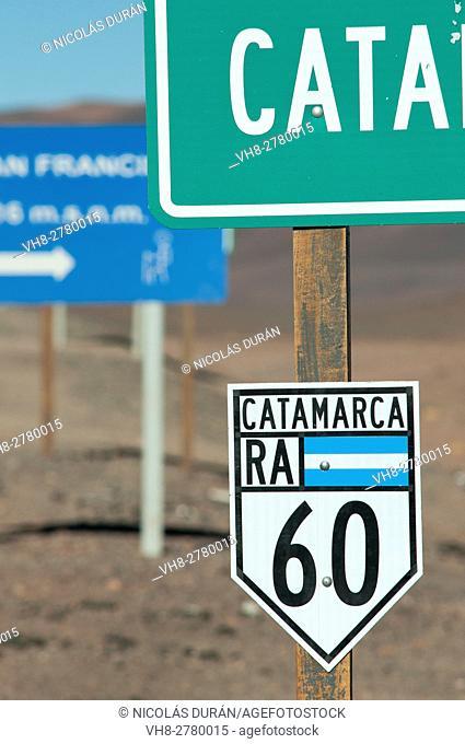 Paso de San Francisco Border between Catamarca, Argentina and Andean Atacama Desert, Chile, South America