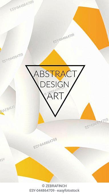 Abstract 3d liquid fluid color shape. Creative Modern vertical wed banner template. Bright neon gradient blend creating innovative 3D effect