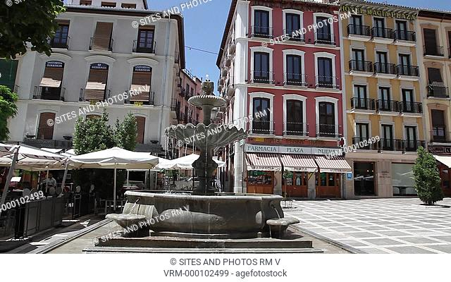 PAN, fountain and buildings at Plaza Nueva