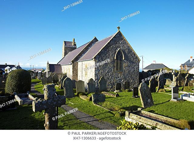 Church of St  Mary the Virgin, Rhossili, the Gower Peninsular, South Wales, UK