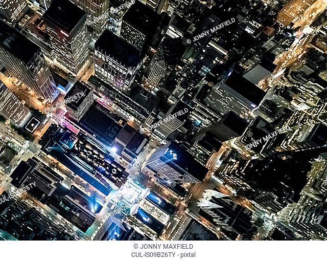 Aerial view from helicopter of Midtown, New York, USA