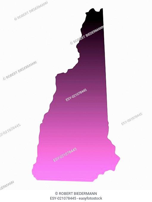 Karte von New Hampshire
