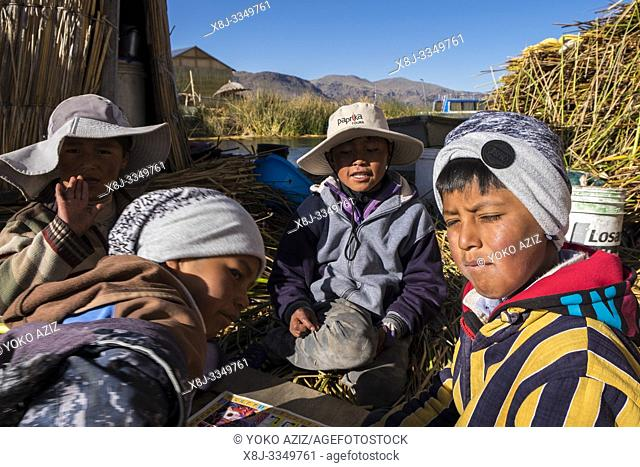 Peru, Titicaca lake, Uros islands