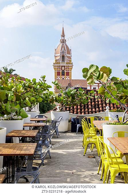 Rooftop Terrace and Metropolitan Cathedral Basilica of Saint Catherine of Alexandria, Cartagena, Bolivar Department, Colombia