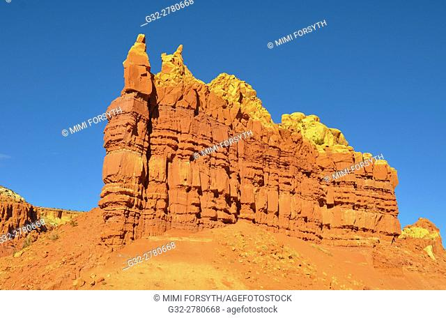 Rock formation, near Abiquiu, New Mexico. Product of erosion