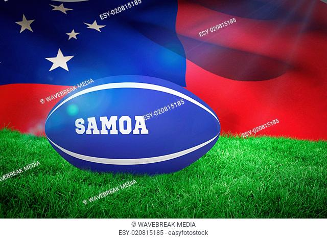 Composite image of samoa rugby ball