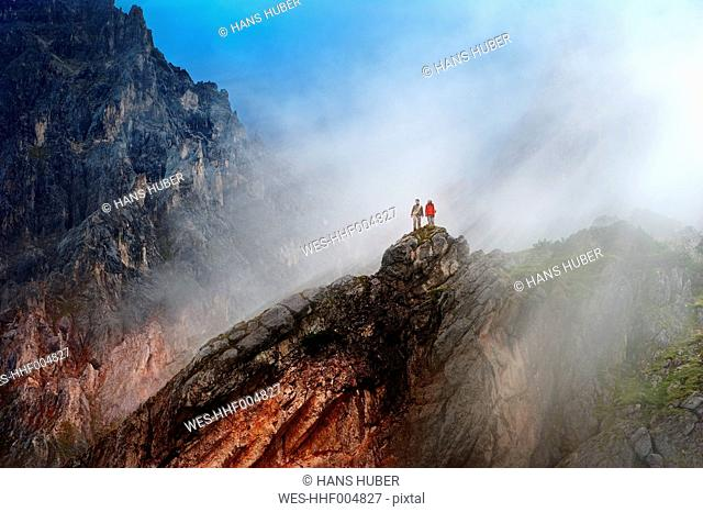 Austria, Salzburg State, Filzmoos, Couple, Two hikers