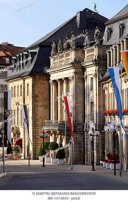 Opernstrasse street, Markgraefliches Opernhaus Margravial Opera House, Bayreuth, Upper Franconia, Franconia, Bavaria, Germany, Europe