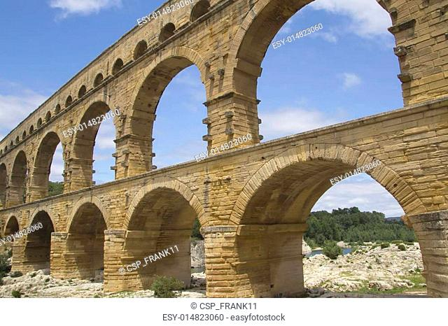 General view of the Pont du Gard (France)
