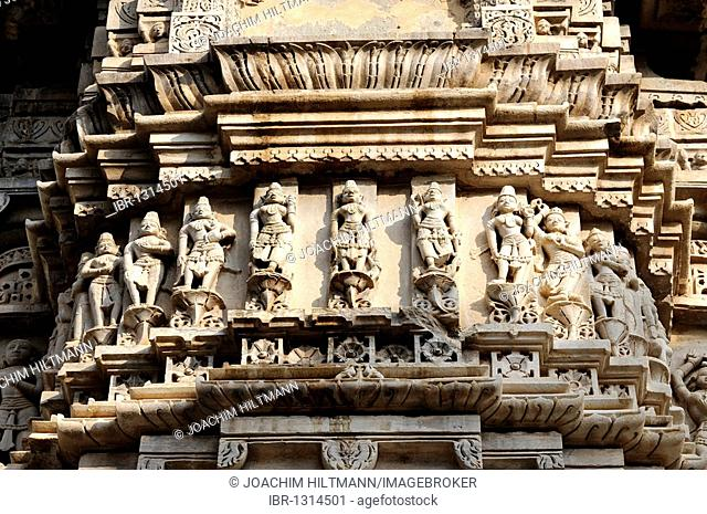 Sculptures of Hindu deities, Jagdish Temple, Udaipur, Rajasthan, North India, India, South Asia, Asia