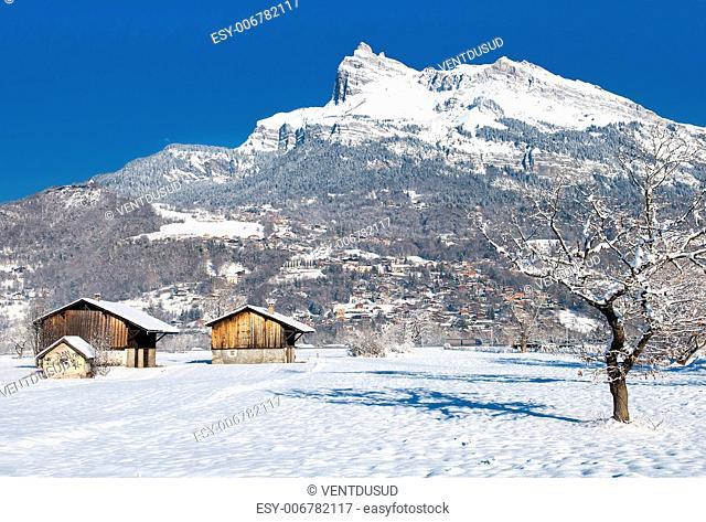 Vallée de l'Arves, betweenChamonix et Genève, near of the Mont-blanc, Alps, France