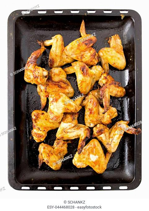 Juicy fried chicken wings in the oven