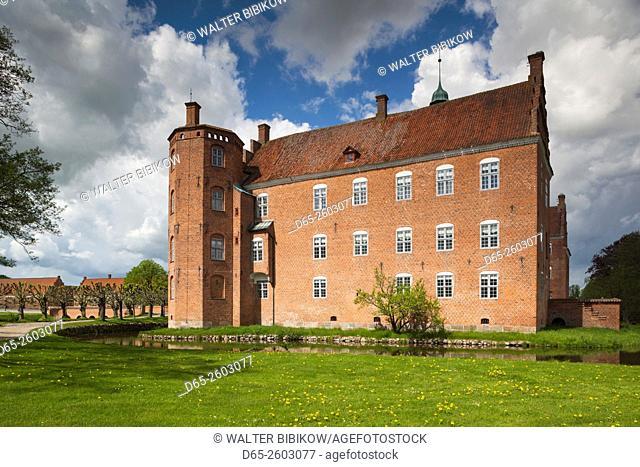 Denmark, Jutland, Auning, Gammel Estrup manor house, exterior