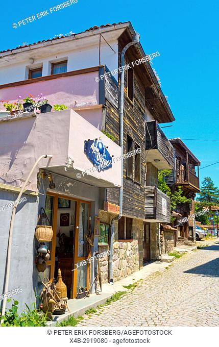 Ul Cyril i Metodyi, Cyril and Methodius street, Old town, Sozopol, Bulgaria