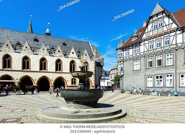 Half-timbered houses, Goslar, Harz, Lower Saxony, Germany, Unesco World Heritage Site