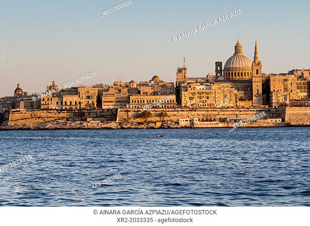 Golden hour in Valletta, Malta