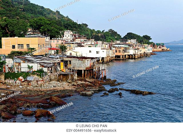 fishing village of Lei Yue Mun in Hong Kong