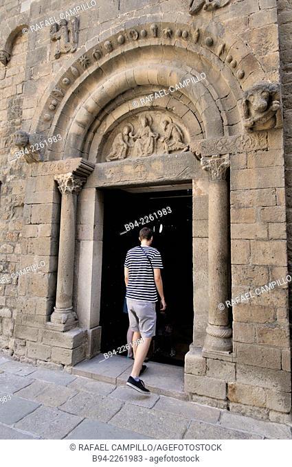 Romanesque Sant Pau del Camp former Benedictine monastery, El Raval, Barcelona, Catalonia, Spain