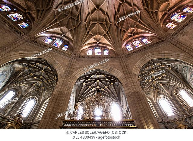 Ambulatory, cathedral of Santa Maria, Segovia, Castilla-Leon, Spain