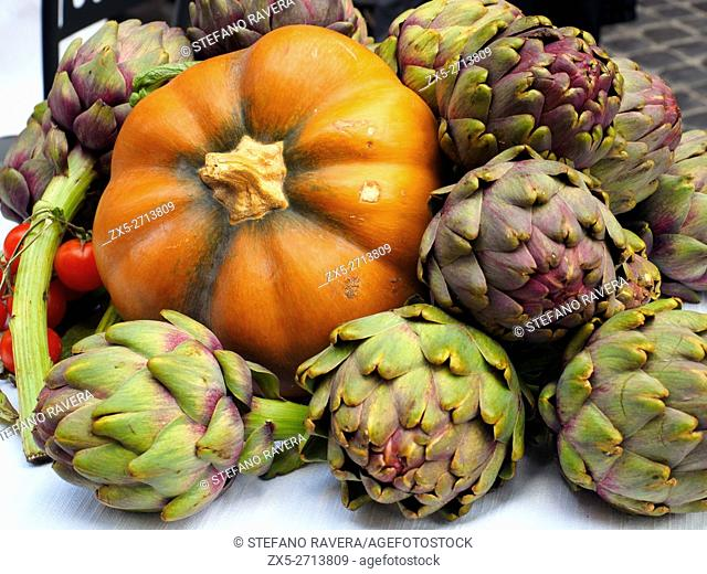 Pumpkin and artichokes - Rome, Italy