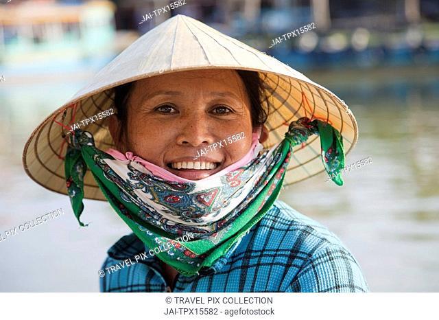 Vietnam, Hoi An, Portrait of Woman