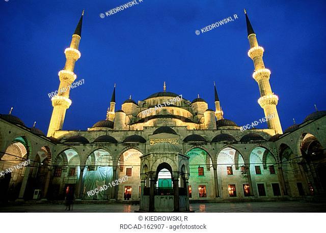 Fountain inner courtyard Blue Mosque Istanbul Turkey
