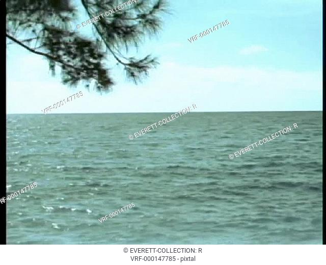 Panning ocean to seashore